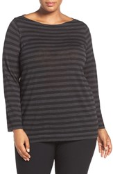 Eileen Fisher Plus Size Women's Bateau Neck Fine Merino Top