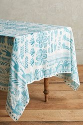 Anthropologie Puglia Tablecloth Turquoise