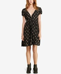 Denim And Supply Ralph Lauren Floral Print Button Front Dress Floral Multi