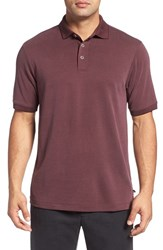 Tommy Bahama Men's 'New Ocean View' Island Modern Fit Polo Chestnut