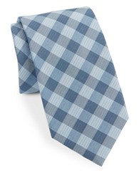 Vince Camuto Checked Tie Teal