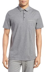 Good Man Brand Men's Cotton Polo Grey Heather