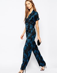 Selected Macy Jumpsuit In Marble Print Printcombo