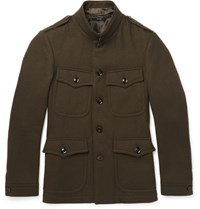 Tom Ford Slim Fit Wool Felt Field Jacket Army Green
