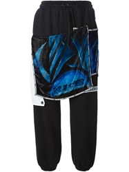 Nasir Mazhar Printed Layered Track Trousers