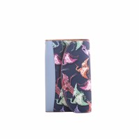 Fonfique Goia Travel Wallet In Imperial Navy Blue Brown
