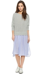 Steven Alan Combo Sweater Dress Grey Melange