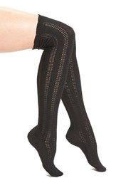 Free People Women's 'Fray' Openwork Knit Over The Knee Socks