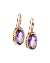 Roberto Coin Mauresque 18K Rose Gold Amethyst And Diamond Drop Earrings Women's