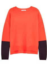 Duffy Two Tone Cashmere Sweater Red