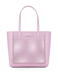 Loeffler Randall Perforated Leather Tote Lilac