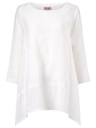 Phase Eight Textured Linen Blouse Top White