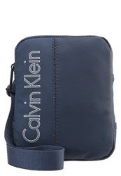 Calvin Klein Jeans Play Mini Flat Crossover Across Body Bag Blue