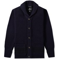 Nigel Cabourn Oversized Cardigan Blue