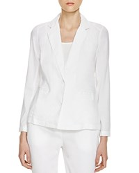 Eileen Fisher Notch Lapel Blazer White