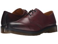 Dr. Martens 1461 3 Eye Shoe Cherry Red Temperley Men's Lace Up Casual Shoes Brown