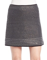 French Connection Studded Mini Skirt Black