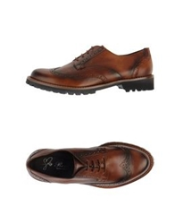 Rose Lace Up Shoes Brown