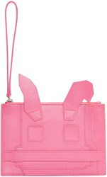 Mcq By Alexander Mcqueen Pink Electro Bunny Pouch