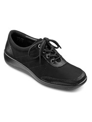 Hotter Paige Ladies Lace Up Lightweight Shoe Black