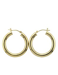 Lord And Taylor 14 Kt. Yellow Gold Polished Tubular Hoop Earrings 14K Yellow Gold