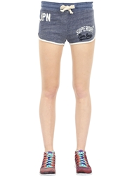 Superdry Printed Cotton Shorts Blue