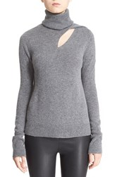 A.L.C. Women's A.L.C 'Billy' Cutout Wool And Cashmere Turtleneck Sweater Heather Grey