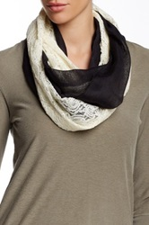 14Th And Union Paisley Lace Infinity Scarf Black