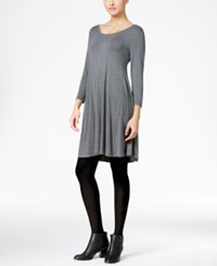 Styleandco. Style Co. Swing Dress Only At Macy's Steel Grey Heather