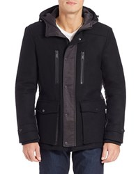 7 For All Mankind Hooded Wool Blend Parka
