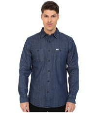 Matix Clothing Company Landon Woven Top Indigo Men's Long Sleeve Button Up Blue