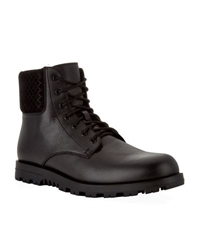 Gucci Fur Lined Leather Boot Black