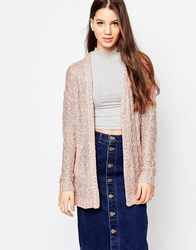 Bellfield Edge To Edge Cardigan Pink