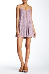 Living Doll Laser Cut Faux Suede Dress Pink