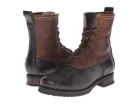 Frye Veronica Duck Boot Black Multi Smooth Pull Up Oiled Vintage Women's Lace Up Boots