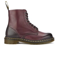 Dr. Martens Men's Pascal Antique Temperley 8 Eye Boots Cherry Red Burgundy