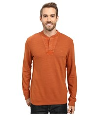 Timberland Great Brook Slub Henley Ginger Bread Men's Long Sleeve Pullover Tan