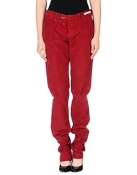 Pt0w Casual Pants Brick Red