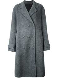 Alexander Wang Oversized Double Breasted Coat Grey