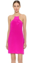 Kaufman Franco Slivered Cocktail Dress Fuchsia