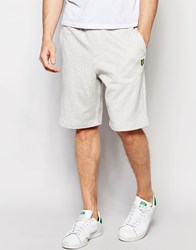Lyle And Scott Sweat Shorts In Gray Light Gray Marl