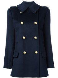 Michael Michael Kors Double Breasted Peacoat Blue