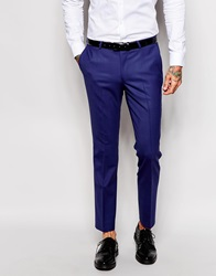 Noose And Monkey Suit Trousers In Skinny Fit Deepblue