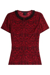 Marc By Marc Jacobs Printed Top With Collar Red