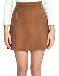 1.State A Line Mini Skirt Brown