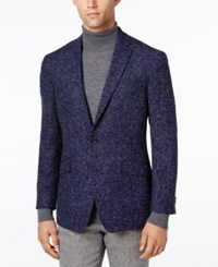 Kenneth Cole Reaction Men's Slim Fit Soft Navy Boucle Sport Coat