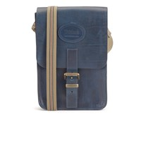 Tricker's Men's Small Leather Satchel Bag Navy Cavalier