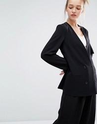 Monki Tailored Double Breasted Blazer Black