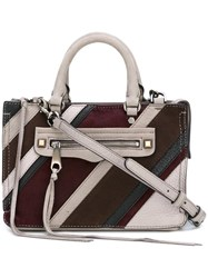 Rebecca Minkoff Striped Tote Grey