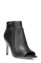 Via Spiga Women's 'Vanetta' Open Toe Bootie Black Leather